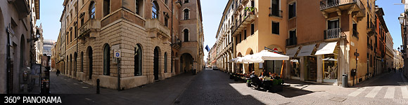 Corso Andrea Palladio, the most famous street of Vicenza