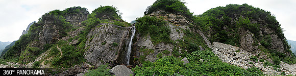 Pasubio mountain, waterfall in the Cavrara Valley